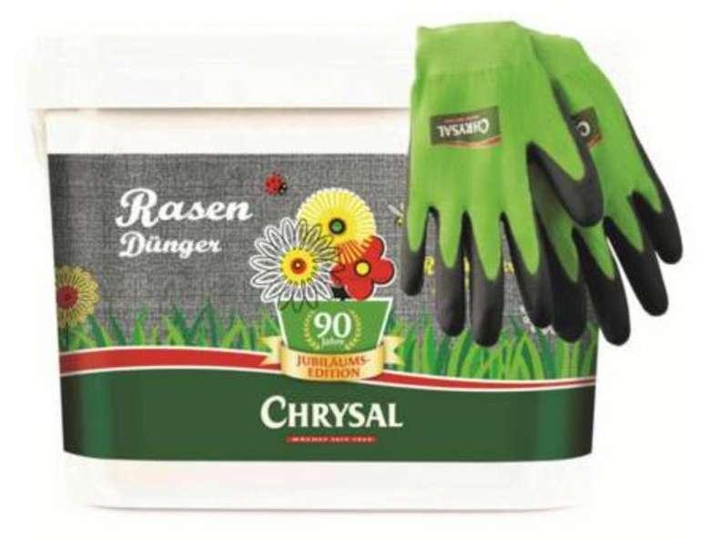 5kg Chrysal Rasendünger Jubiläum (reicht für 200 m²) + Gartenhandschuhe für 13,99€ inkl. Versand (statt 20€)