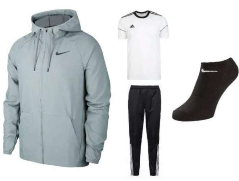 Nike/Adidas Trainings-Set (Jacke, Shirt, Hose, Socken) für 80,35€ inkl. Versand (statt 104€)