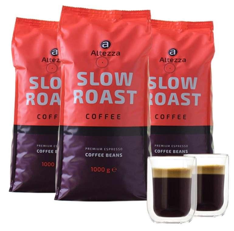 3kg Altezza Slow Roast Kaffeebohnen + 2 Gläser für 39,94€ inkl. Versand