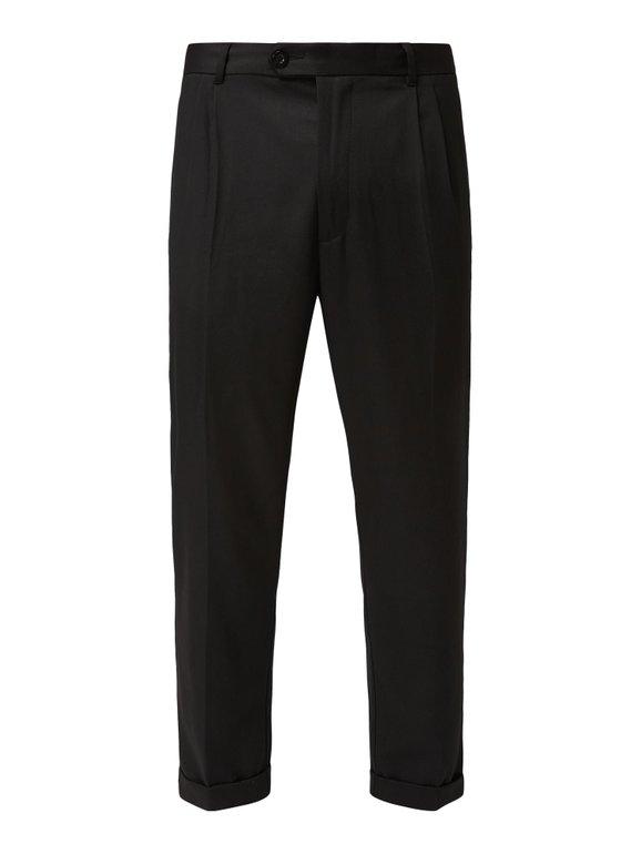 Review Bundfaltenhose mit fixiertem Beinumschlag in Grau für 9,99€ inkl. VSK