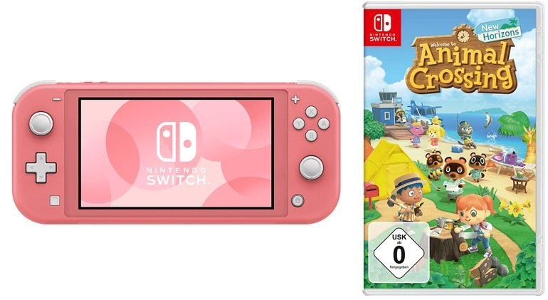 Nintendo Switch Lite Konsole + Animal Crossing New Horizons