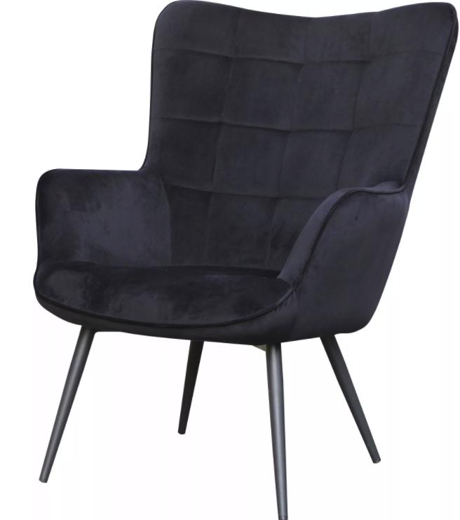 """Homexperts Sessel """"Ulla"""" in schwarz für 152,99€inkl. Versand (statt 180€)"""