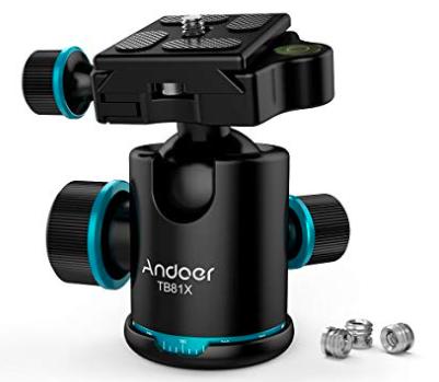 Andoer - 360 Grad drehbarer Panorama-Kugelkopf für 18,19€ (statt 28€)