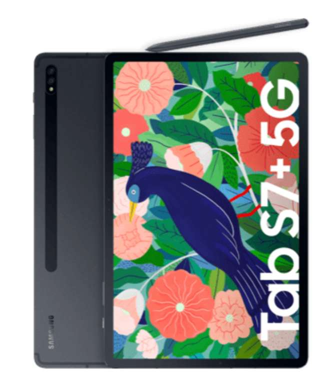 Samsung Galaxy Tab S7 Plus 5G (1€) + o2 Free Unlimited Max (300 Mbit/s) für 59,99€ mtl.