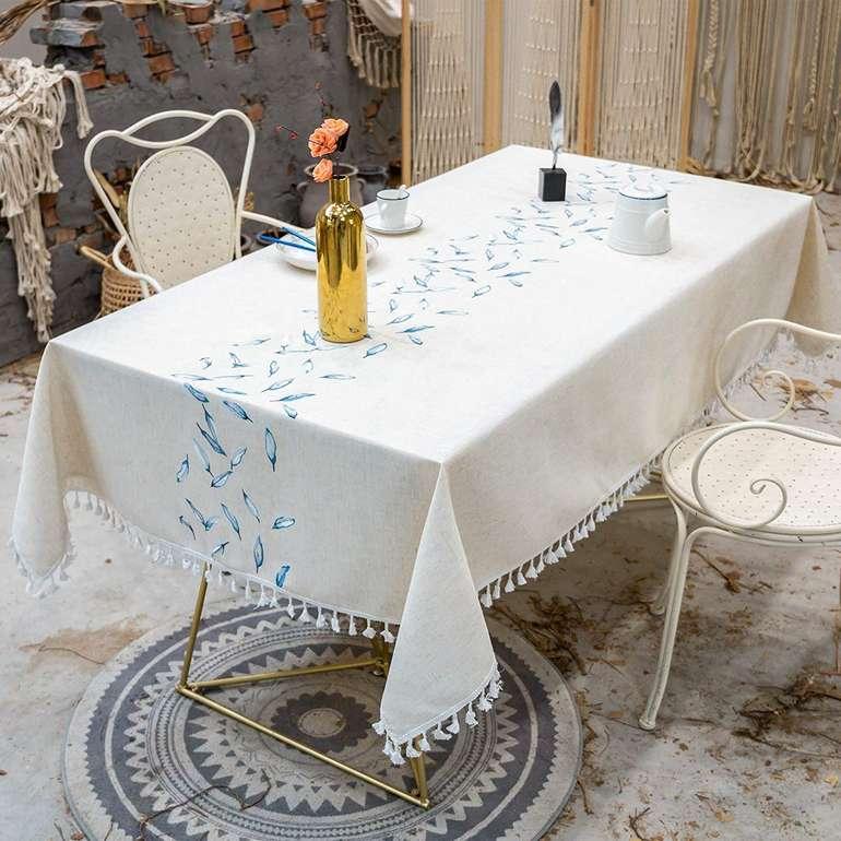 Vivilinen Quasten-Tischdecke (140 x 180 cm) für 17,49€ inkl. Prime Versand (statt 25€)