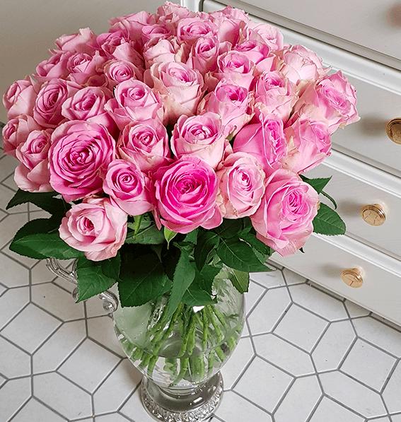 "33 pinke Rosen im Strauß ""PinkDiamonds"" für 19,98€ inkl. Versand"