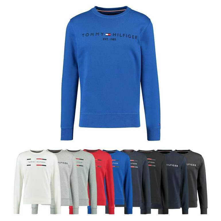 Tommy Hilfiger Herren Sweatshirt mit Logo-Print (S-XXXL) für 59,90€ (statt 85€)