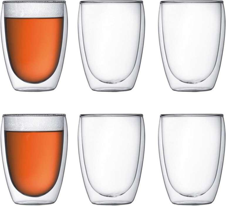 """Bodum """"Pavina"""" 6-teiliges Gläser-Set (Doppelwandig 0,35 L, isoliert) für 37,99€ inkl. Versand (statt 54€)"""