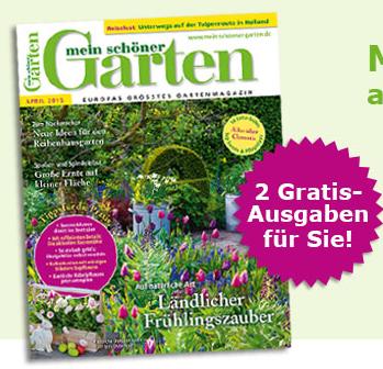 """2 Ausgaben """"Mein schöner Garten"""" kostenlos - keine Kündigung notwendig"""