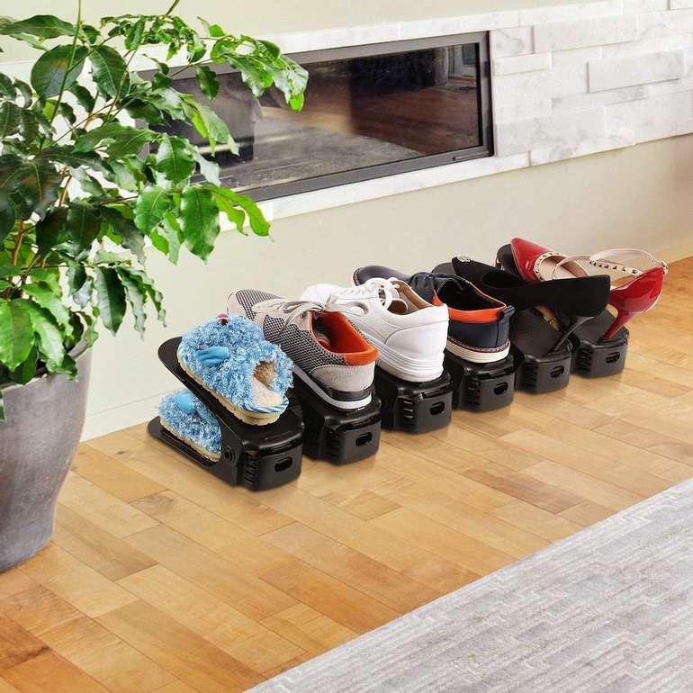 Hengda verstellbare Schuhstapler reduziert, z.B. 10er Pack grau für 9,74€ inkl. Prime Versand (statt 14€)