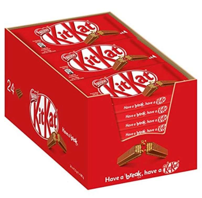 24er Pack Nestle KitKat Schoko-Riegel, Milch-Schokolade (24 x 41,5g) ab 8,99€ (Prime)