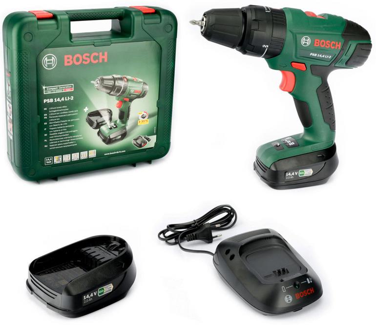 Bosch PSB 14,4 LI-2 Akku Schlagbohrmaschine + 2 Akkus für 123,45€ (statt 158€)