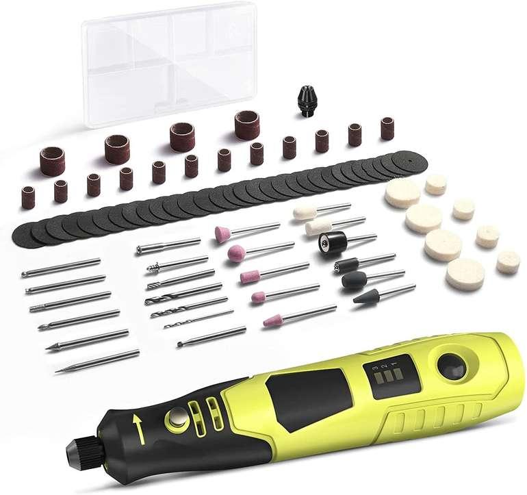 DA Mini Multifunktionswerkzeug (3.7V Akku, 5000-18000 U/min Drehzahl, 80tlg. Zubehör) für 14,99€ inkl. Versand (statt 30€)