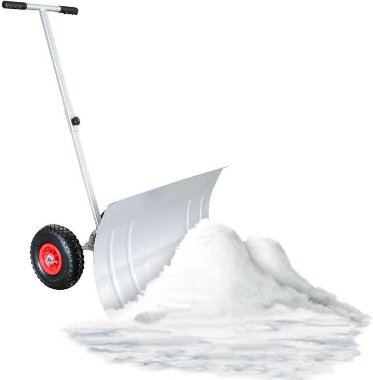 Wolketon Schneeschaufel mit Rädern (74 cm, höhenverstellbar) für 34,99€ inkl. Versand (statt 44€)