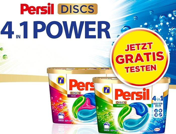 Cashback: Persil 4-in-1 Discs gratis testen dank Geld-zurück-Garantie