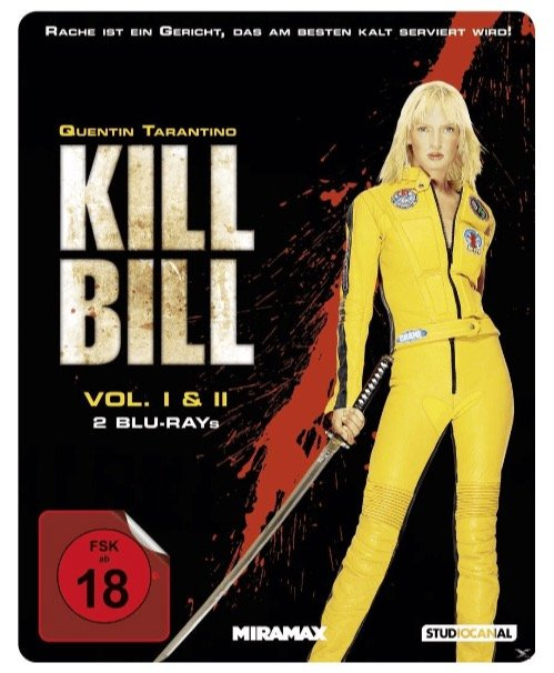 Blu-rays Kill Bill Vol. 1 & 2 (Steelbook Edition) für 7,99€ + ggf. 4,99€ Versand