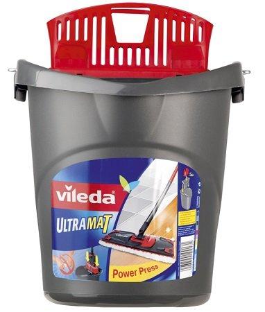 Vileda Ultramat Eimer mit Wringeinsatz Power-Press-Funktion für 5,97€