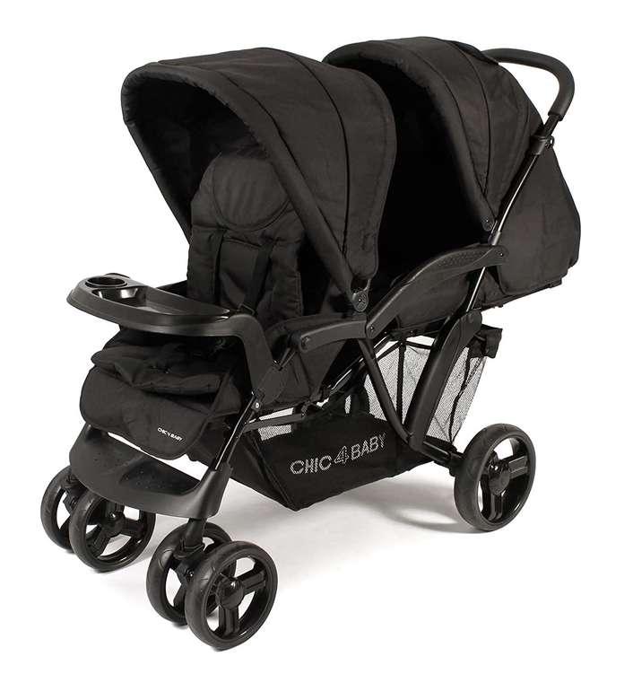 Chic 4 Baby Geschwisterwagen Doppio in schwarz für 159,99€ inkl. Versand (statt 191€)