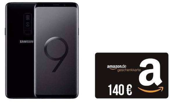 Galaxy S9 (4,95€) + 140€ Amazon + Vodafone Smart L+ (5GB) für 36,99€ mtl.
