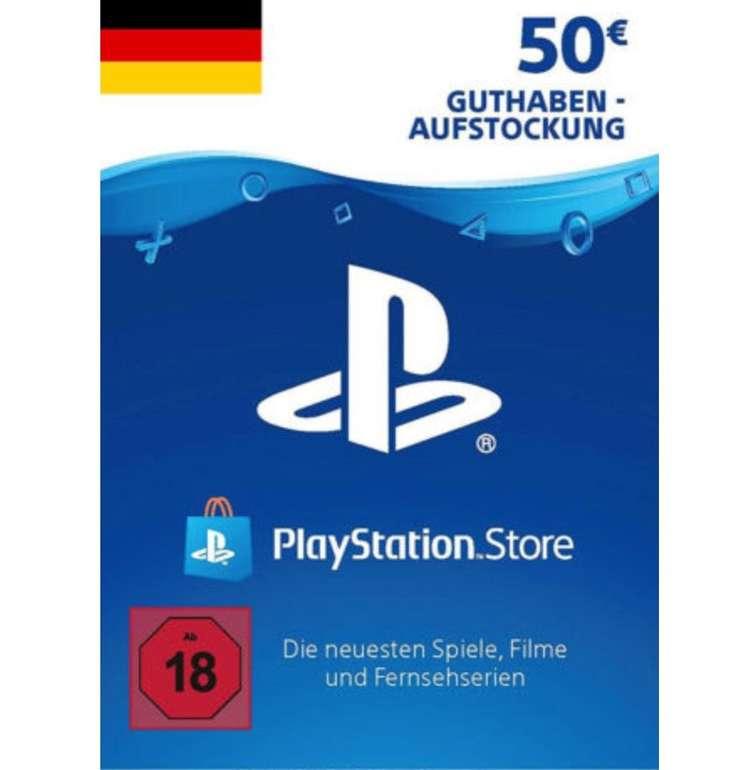 50€ PSN Playstation Network Guthaben für 37,72€ (statt 44€)