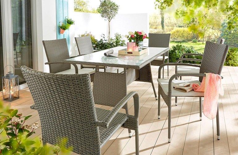 7-teiliges Living BPC Polyrattan Gartenmöbel Set 2