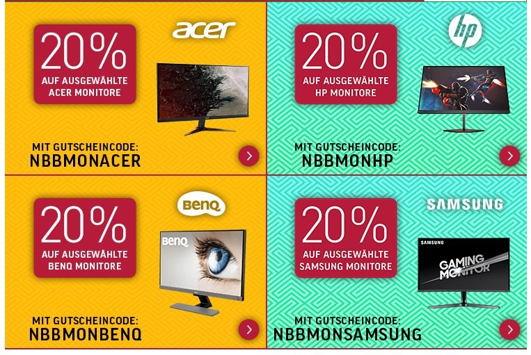 NBB mit 20% Rabatt auf ausgewählte Monitore 2