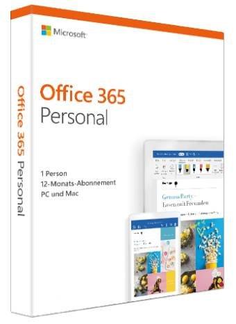 Microsoft Office 365 Personal Abonnement (PC/MAC) 1 Jahr für 39€ (statt 55€)