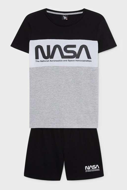 C&A Kinder NASA Shorty-Pyjama (Bio-Baumwolle) für 5,99€ inkl. Versand (statt 13€)