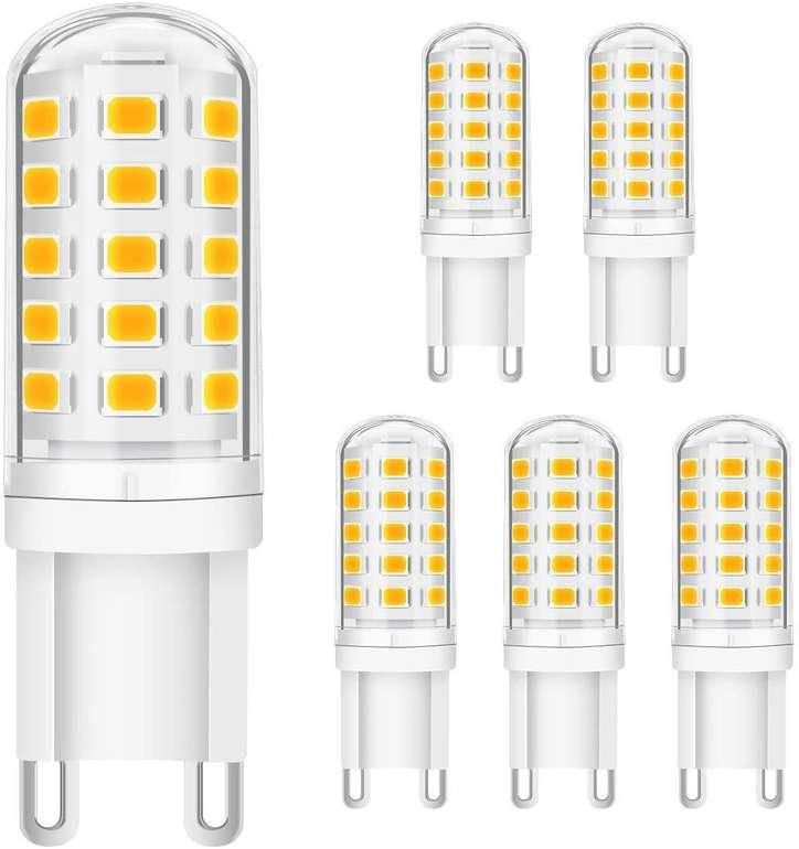 Kingso - 6er Pack dimmbare G9 LED Lampen (5W, 3000K) für 11,19€ inkl. Prime Versand (statt 16€)