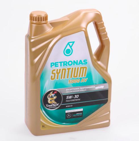 Vollsynthetisches Motoröl: 5 Liter Petronas Syntium 5000 AV 5W-30 für 22,99€