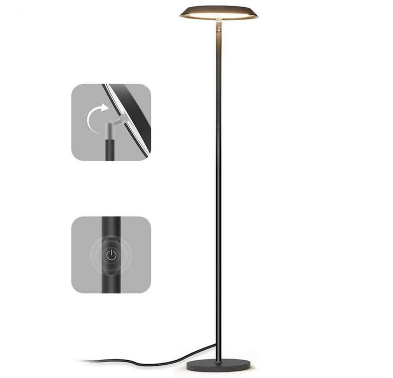 Dimmbare Teckin LED Stehlampe für 27,49€ inkl. Versand (statt 55€)