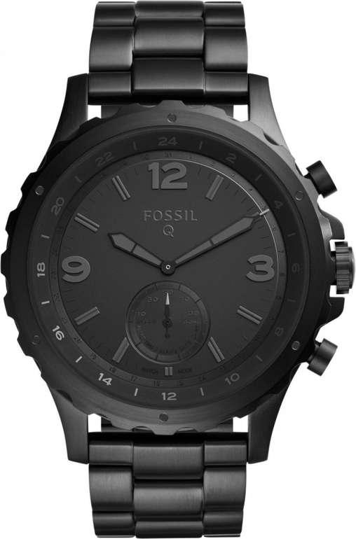 Fossil Q Nate Edelstahl Herren Hybrid Smartwatch für 85€ (statt 169€)