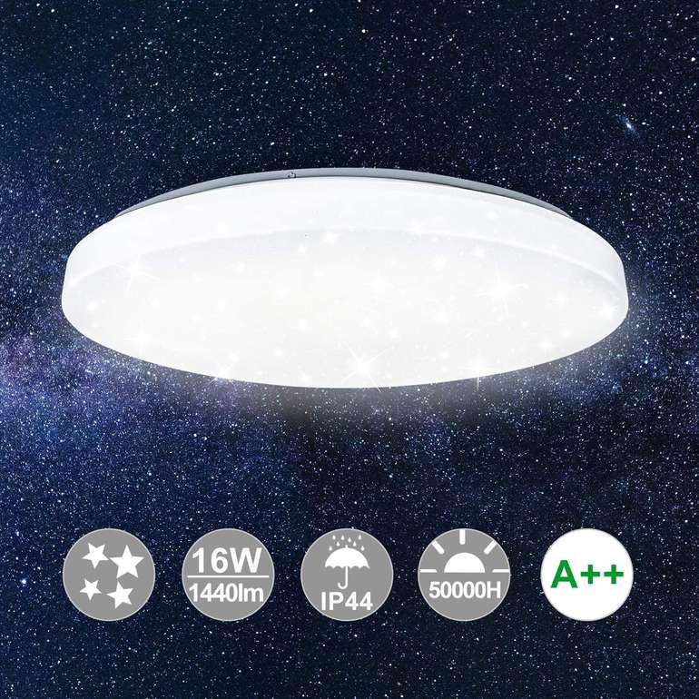 Verschiedene Hengda LED Deckenleuchten mit Sternendekor reduziert z.B. 16 Watt für 14,23€ inkl. Versand