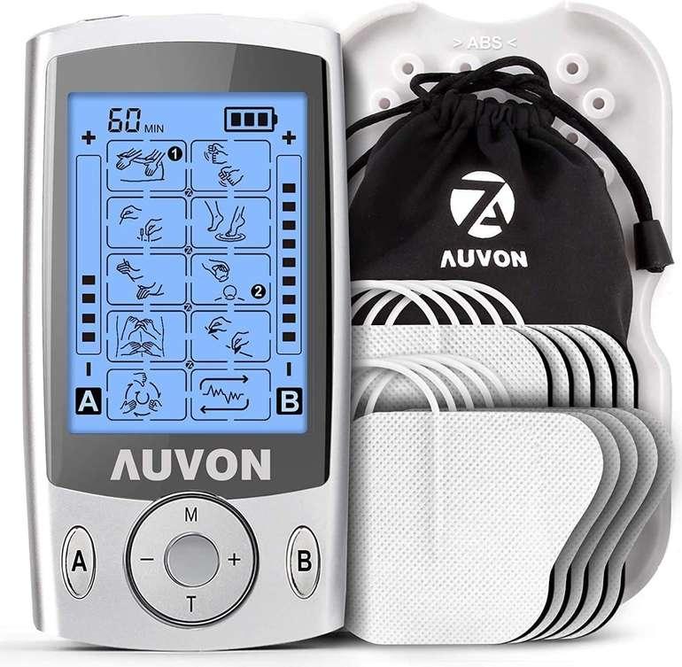 Auvon Tens Reizstromgerät (20 Trainingsprogramme, 10 Premium Elektroden Pads) für 25,89€ inkl. Prime Versand (statt 37€)