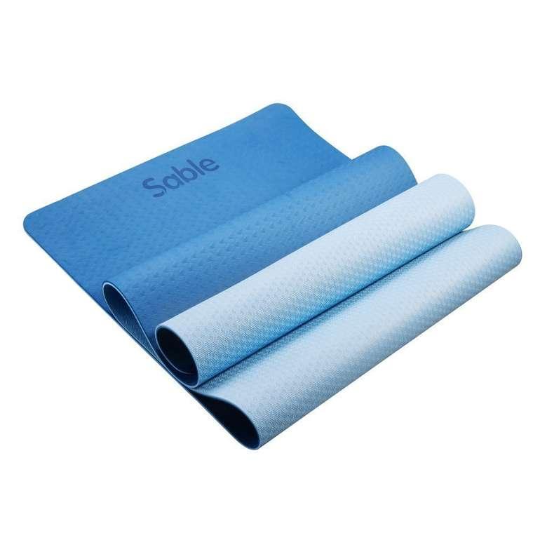 Sable Yogamatte (rutschfest, 6mm Dicke,183cm Länge) für 18,99€ (statt 30€)