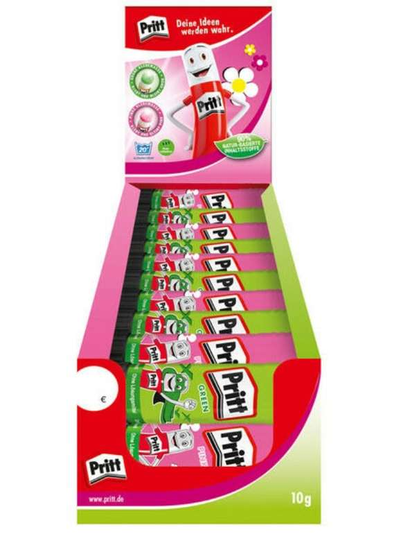 30x Pritt Stift Grün und Pink Display (je 10g) für 9,99€ inkl. Versand (statt 25€)