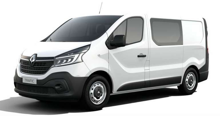 Renault Trafic dCi 120 L2H1 DoKa 3.0t inkl. Klima, Radio, BT & LED ab 75€ Netto mtl. im Gewerbeleasing (LF: 0,23)