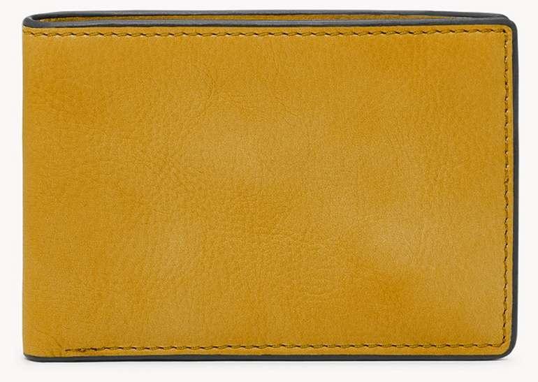 Fossil FPW Bifold Steven Geldbörse in Gelb für 21,60€inkl. Versand (statt 35€)