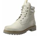 s.Oliver 25204 Damen Combat Boots in Offwhite für 22,39€ inkl. Prime Versand