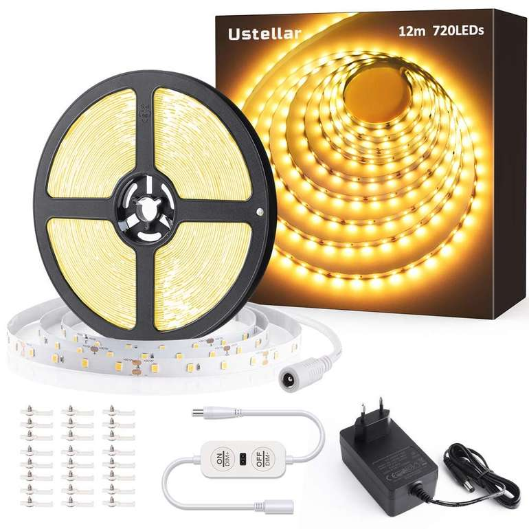 Ustellar 12 m LED Streifen (dimmbar, warmweiß) für 20,99€ inkl. Versand (statt 25€)