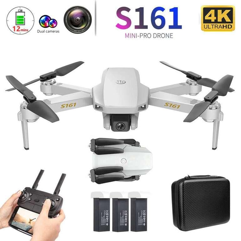 CSJ S161 Mini Pro Drohne mit 4K Kamera & 3 Batterien für 41,99€ inkl. Versand (statt 47€)