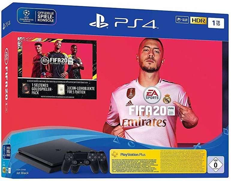 Sony PlayStation 4 1TB + EA Sports FIFA 20 Bundle mit 2 Dualshock 4 Controllern für 252,99€ inkl. VSK