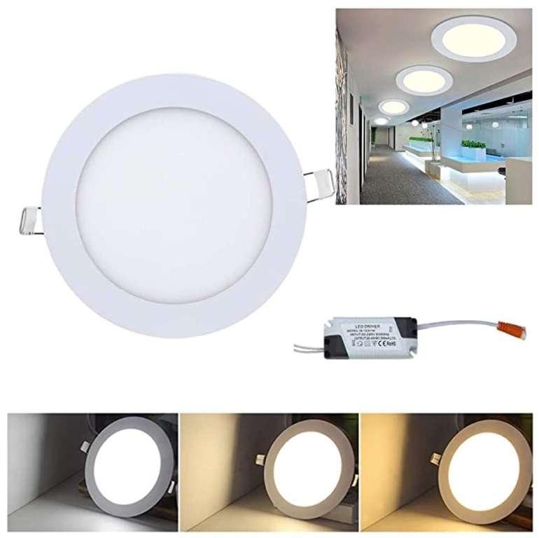 Hengda LED Einbaustrahler mit 3 Weißstufen reduziert - z.B. 10x 18 Watt für 42,69€ (statt 61€)