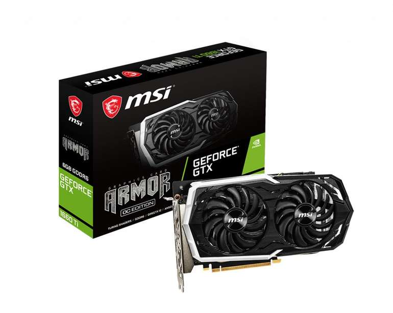 MSI GeForce GTX 1660 Ti Armor OC 6GB GDDR6 Grafikkarte für 257,99€ (statt 313€)