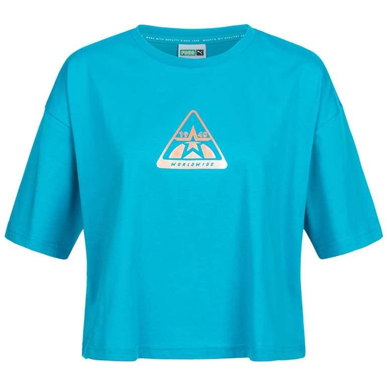 Puma TZ Damen T-Shirt in Blau für 11,78€ inkl. Versand (statt 20€)