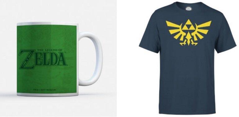 Nintendo Zelda Triforce T-Shirt + Zelda Tasse