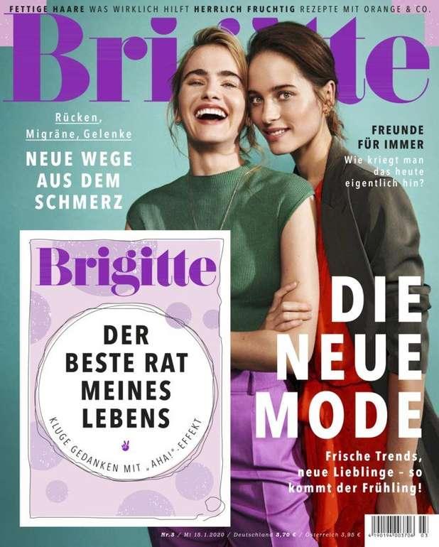 """6 Ausgaben """"Brigitte"""" für 24€ + 28€ Verrechnungsscheck"""