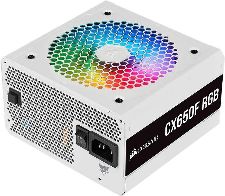 Corsair CX F RGB White mit 650W modulares ATX-Netzteil für 62,90€ inkl. Versand (statt 83€)