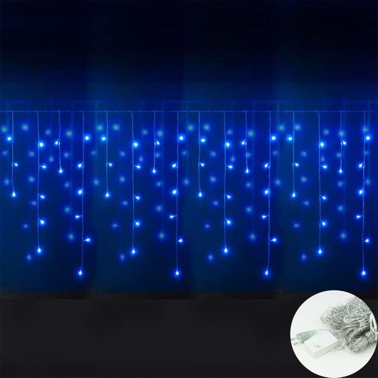 Vingo - blaue Eisregen Lichterketten reduziert, z.B. 600 LEDs für 10,19€ (Prime)