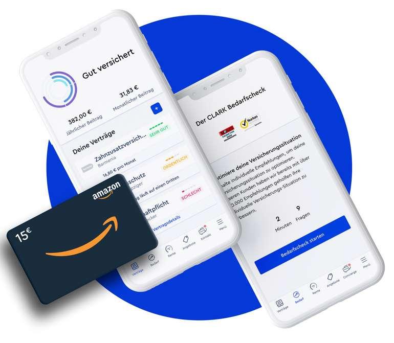 CLARK: Jetzt Versicherungen optimieren und sofort (!) einen 15€ Amazon-Gutschein erhalten!